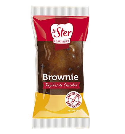 Brownie  aux pépites de chocolat sans gluten